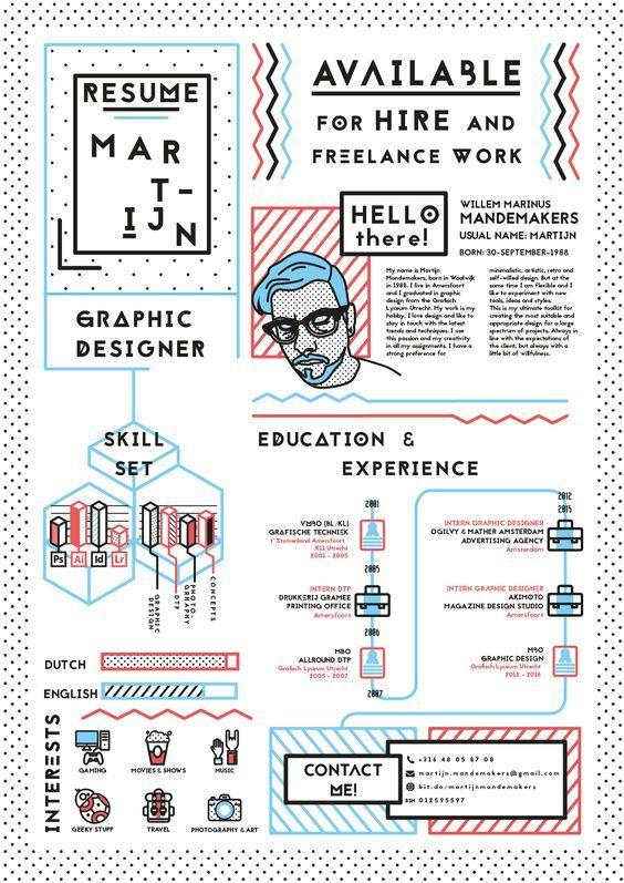 25 Creative and Beautiful Resume & CV Examples | www.ResumeDesignCo.com | #resumedesign #resumeinspiraton #resumedesignco