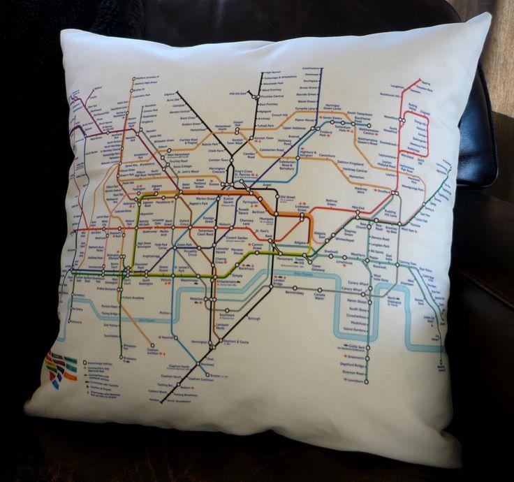 London tube map cushion cover