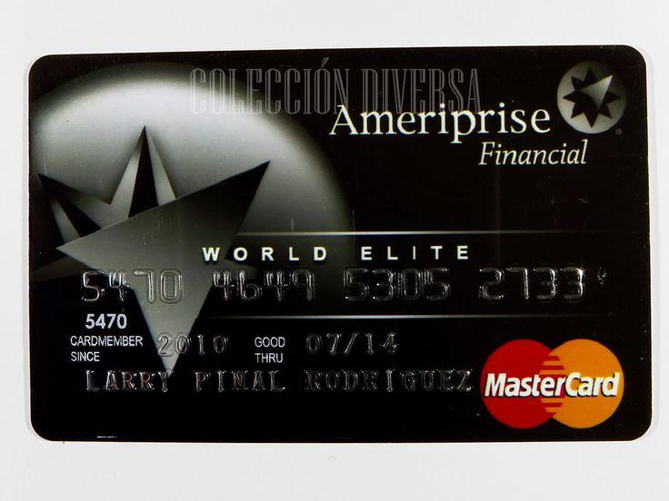 Ameriprise Financial World Elite Credit Card Expired Mastercard