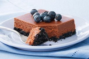 PHILADELPHIA Double-Chocolate Cheesecake recipe - Double duty is what chocolate does in this rich cheesecake. Our version sports everyone's favorite ingredient both in the dense filling and in the delicately delicious crust. #cheesecake