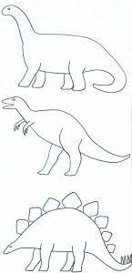 Paper Crafts » Decorating Dinosaur Shapes