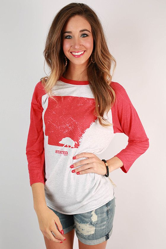 Walking Razorback Baseball Tee