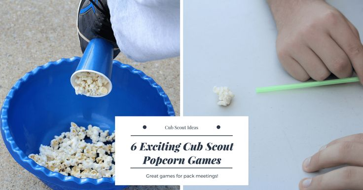 Cub Scout popcorn games are a great addition to any pack or den meeting! You can also use them for your next popcorn sale fundraiser kickoff.