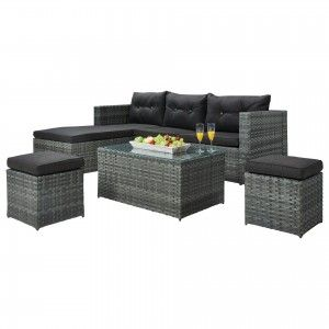 best 25+ polyrattan lounge set ideas on pinterest, Gartengestaltung