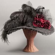 victorian mourning hat