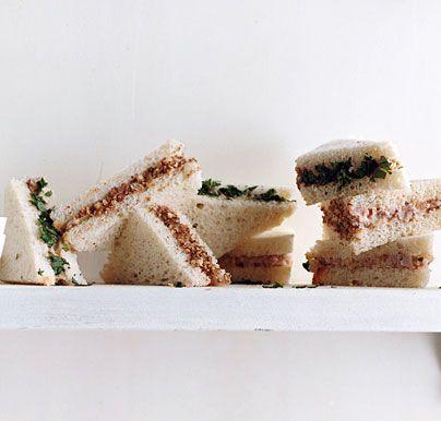 Deviled Ham and Pecan Tea Sandwiches recipe