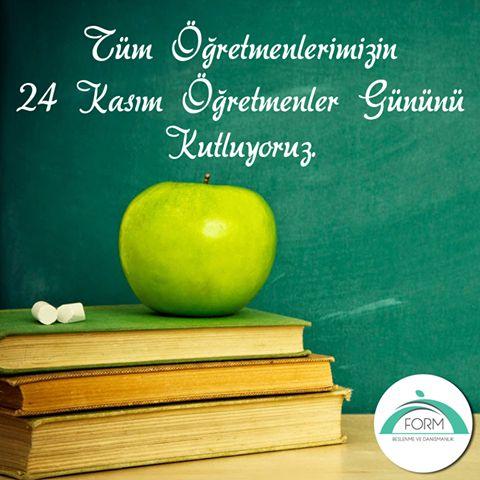 Tüm Öğretmenlerimizin 24 Kasım Öğretmenler Gününü Kutluyoruz.  #FormBeslenme #ÖğretmenlerGünü #24Kasım