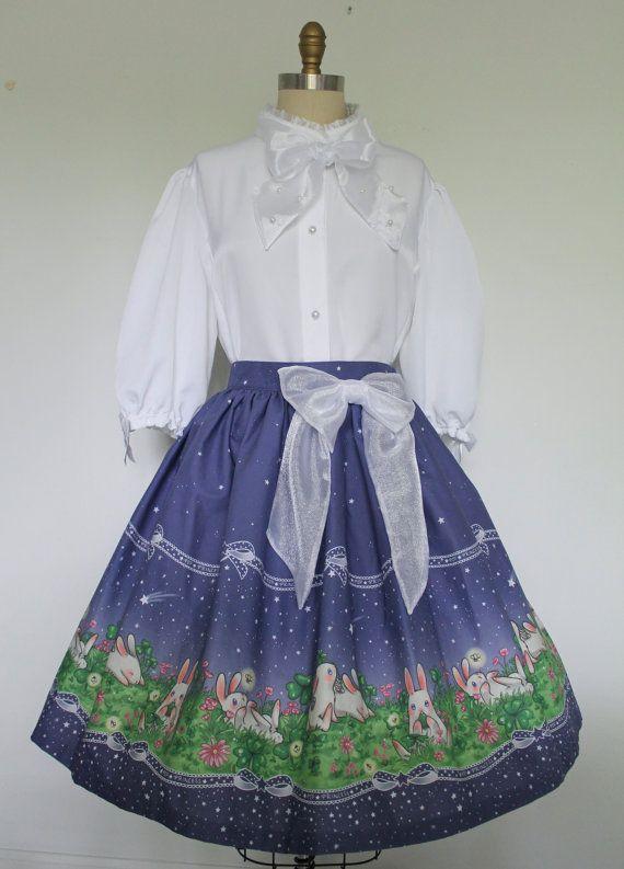 Starry Garden Plus Size Lolita Skirt Runway by lepopprincess, $220.00