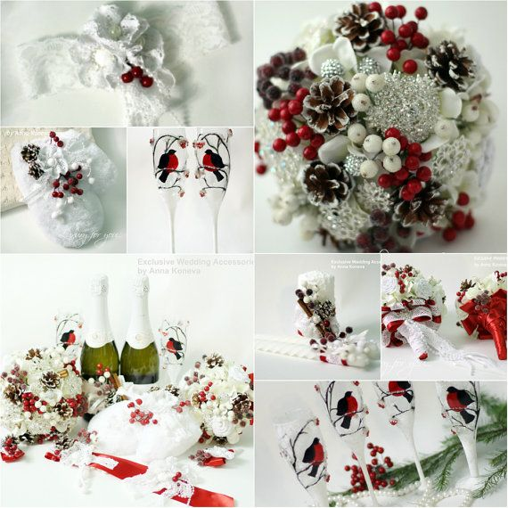 Wedding Candle Set of 3 Winter Unity Wedding от JewelryBouquet