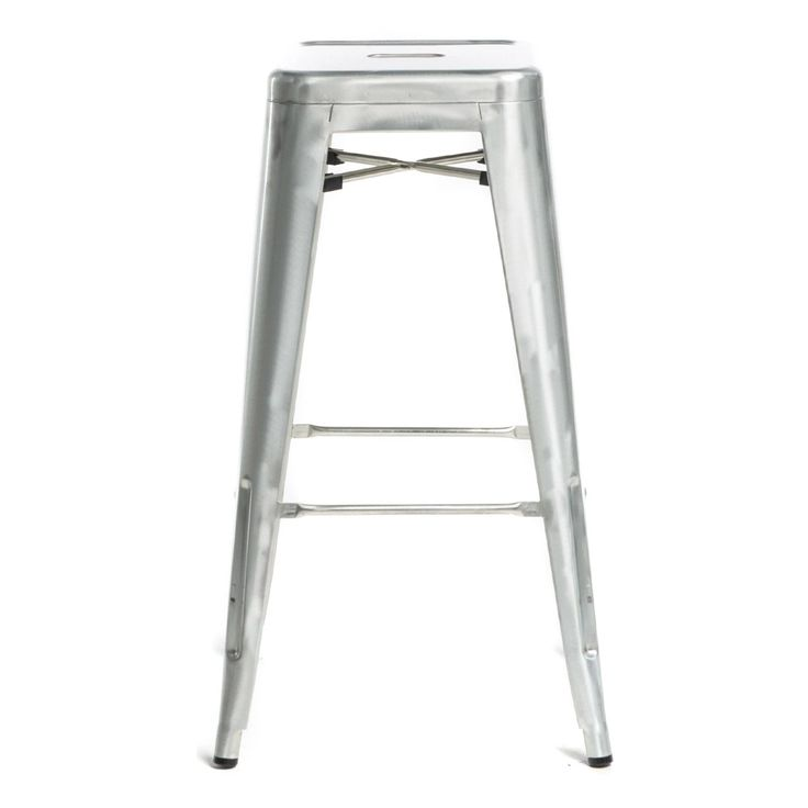 Commercial Seating Products Oscar Tolix Style Metal Backless Patio Stool | from hayneedle.com