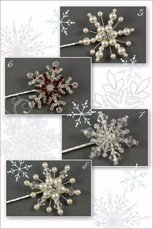 Snowflake Hair Grips