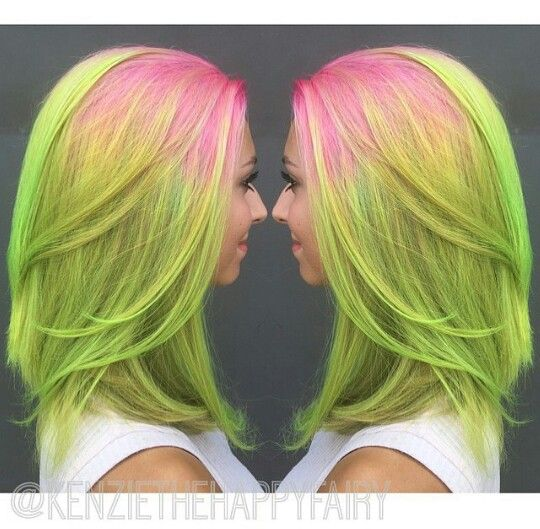haircut photo generator 25 best ideas about neon green hair on bright 5839