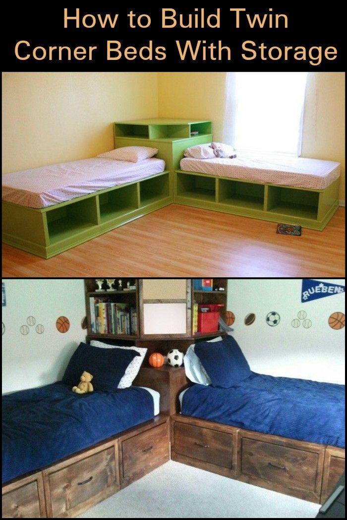 best 25 corner twin beds ideas on pinterest kids. Black Bedroom Furniture Sets. Home Design Ideas