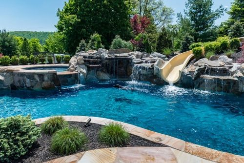 10 best custom swimming pools spas nj images on for Pool design new jersey