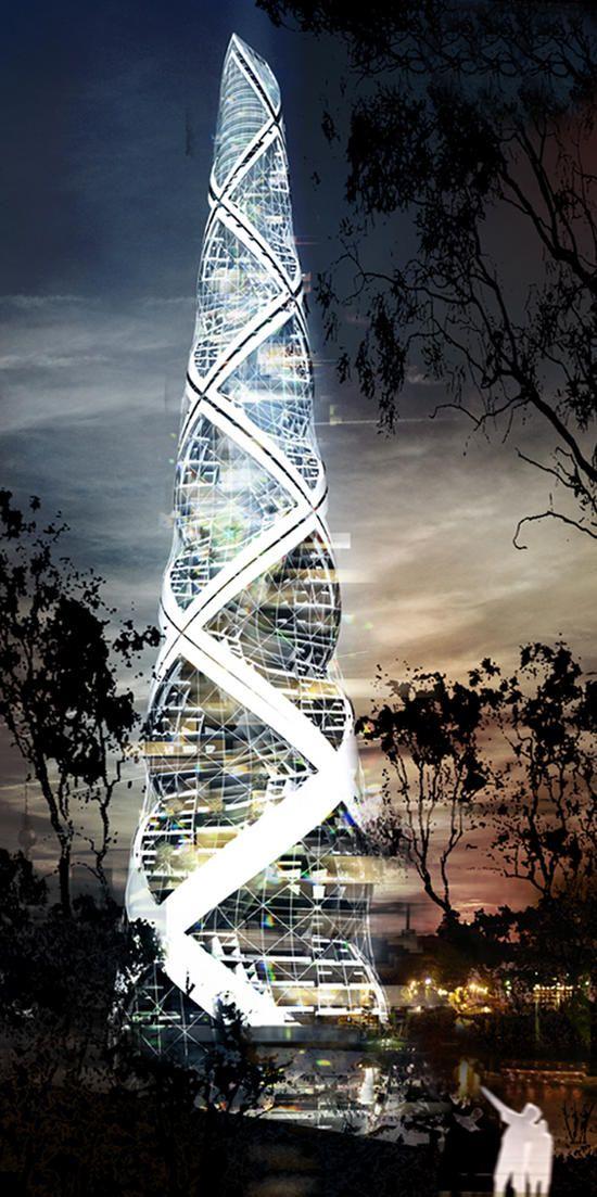 Spiral Tower, Berlin, Germany [Futuristic Architecture: http://futuristicnews.com/category/future-architecture/]
