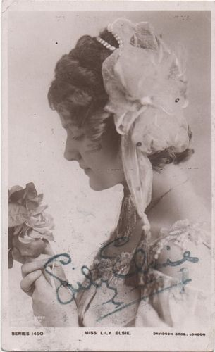 Postcard Actresses Lily Elsie Signed | eBay