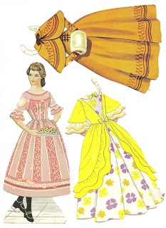 Little Women paper dolls, Beth. These were my FAV paper dolls, and I still have them!