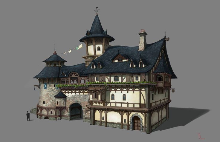 Medieval house , yeonji Rhee on ArtStation at https://www.artstation.com/artwork/n03ko
