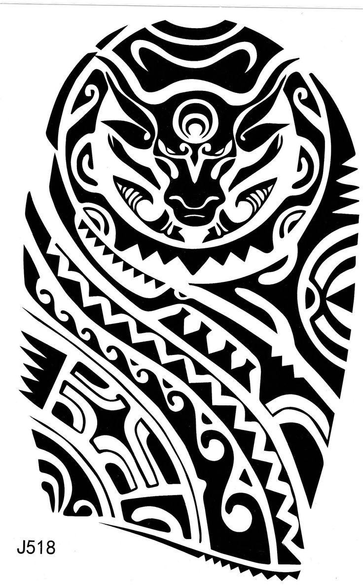 Maori Tribal Aztec Temporary Tattoo Fake Tattoo 5,9×8,2 inch J518   – CREATE | Inked
