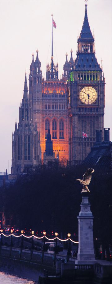 Majestic Big Ben and the Palace of Westminster.  London a truly historic city and the capital of the United Kingdom. England swings with their bobbies on bicycles two by two. When in London try some good old Pie and Mash.