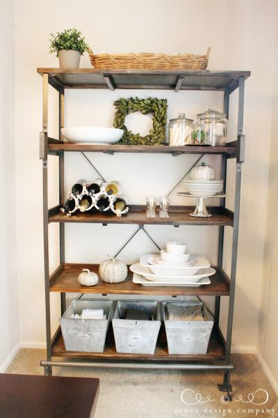 I Absolutely Love These Open Shelves In The Dining Room: Pleasantly Surprised {a New Dining Room Display Shelf ...