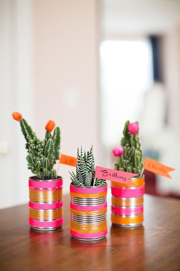 DIY Project: Cactus Place Cards & Favors : DIY Wedding