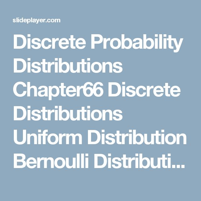 binomial bernoulli and poisson distributions The poisson distribution in the picture above are simultaneously portrayed several poisson distributions where the rate to the binomial) but the poisson rate.