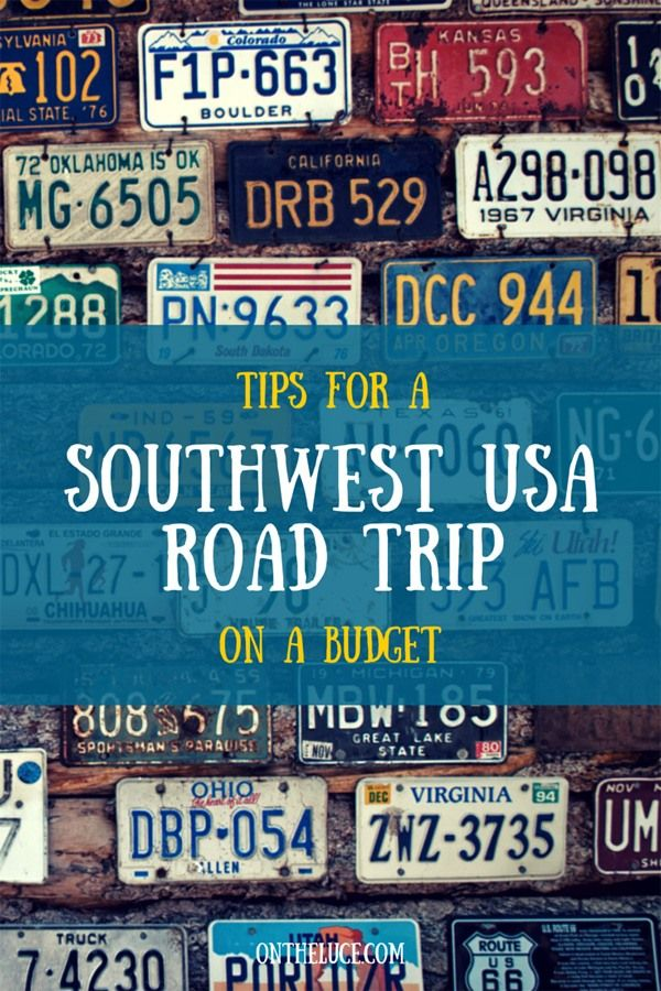Tips for a southest USA road trip on a budget