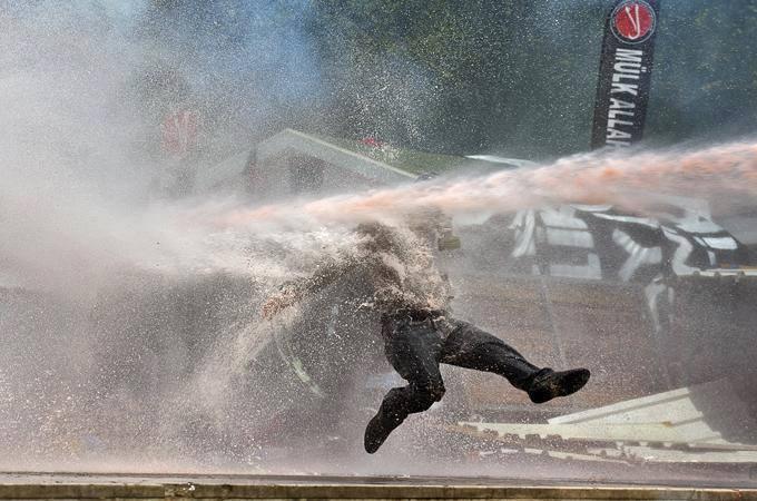 Water guns directed at his face could have killed him.  #direngezipark #solidarity
