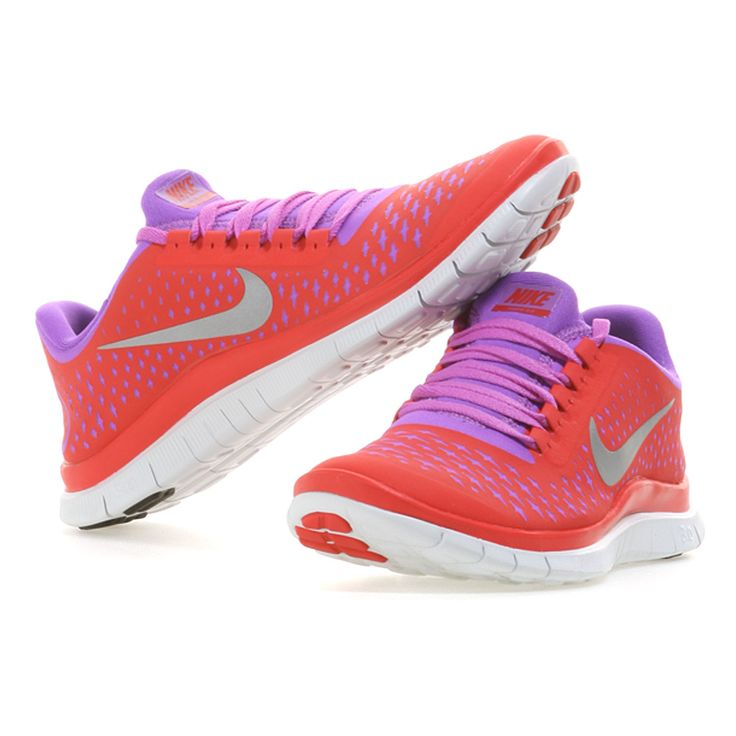 the latest db66d ea06a ... Nike   FREE 3.0 V4 Natural Running Schuhe Damen   red-silver-pink bei  ...