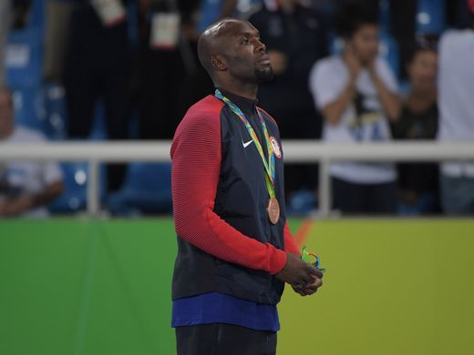 LaShawn Merritt took bronze in the men's 400.