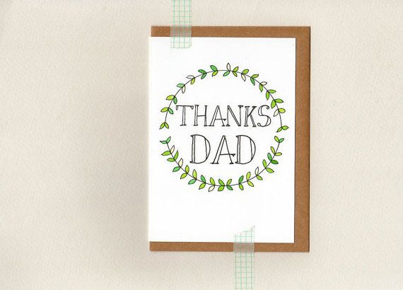thanks dad . greeting card . fathers day . dads by ThePaisleyFive