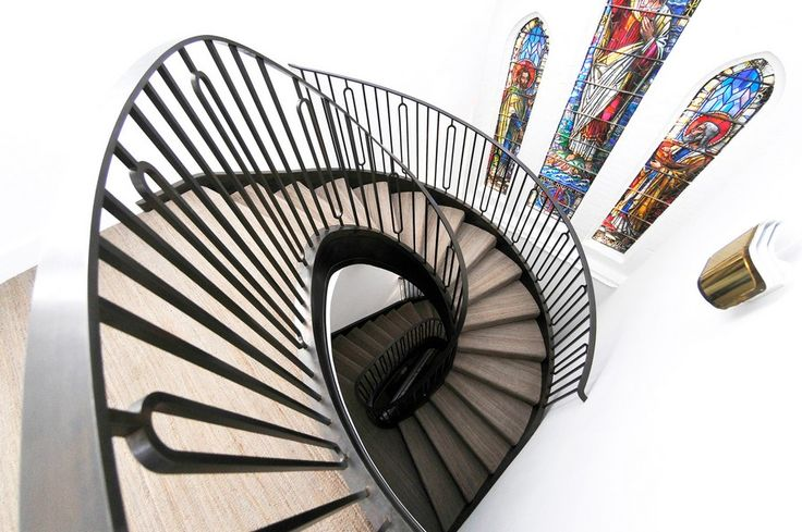 modern St Judes Helical Staircase Tribute to Dedicated Craftsmanship: Impressive Spiral Staircase in London
