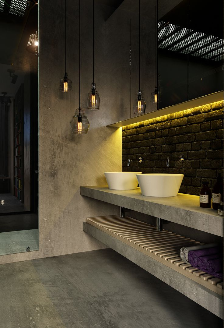 Best 25 concrete bathroom ideas on pinterest concrete for Interior design studio berlin