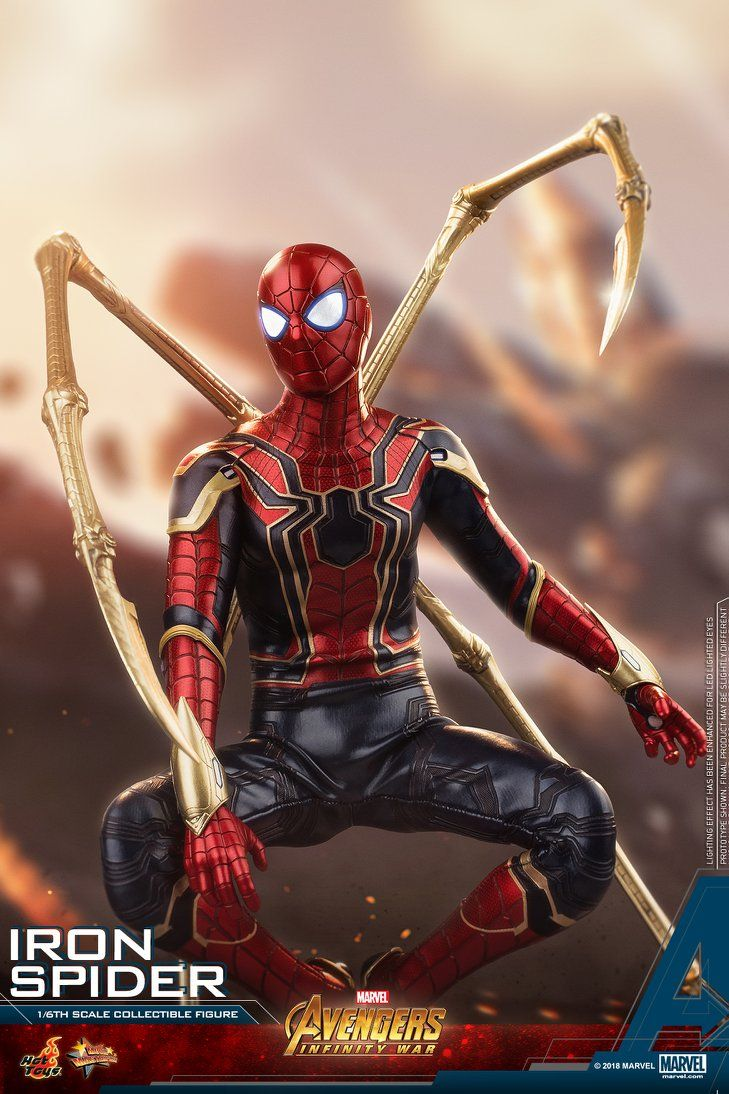 Hot Toys Reveals Their Incredibly Cool Avengers Infinity War Iron Spider Action Figure Geektyrant Iron Spider Spiderman Iron Spider Suit