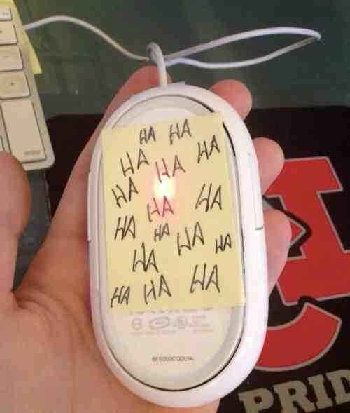 Or block their mouse sensor with a Post-it. | 17 Diabolical Tech Pranks For April Fool's Day