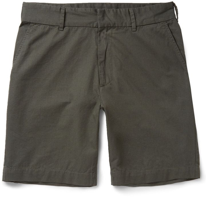$285, Tomas Maier Cotton Twill Shorts. Sold by MR PORTER. Click for more info: https://lookastic.com/men/shop_items/355597/redirect