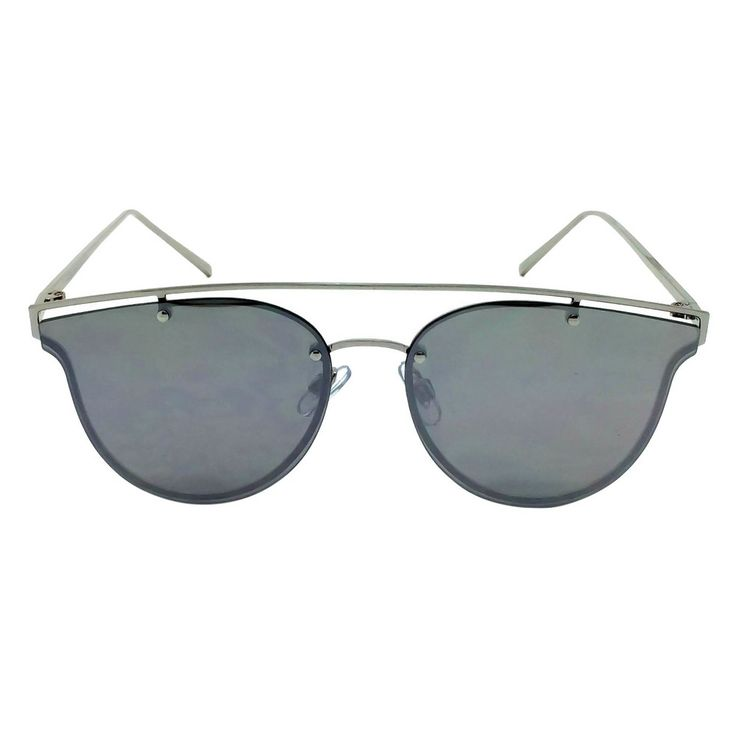 Women's Aviator Sunglasses - Silver, Shiney Silver
