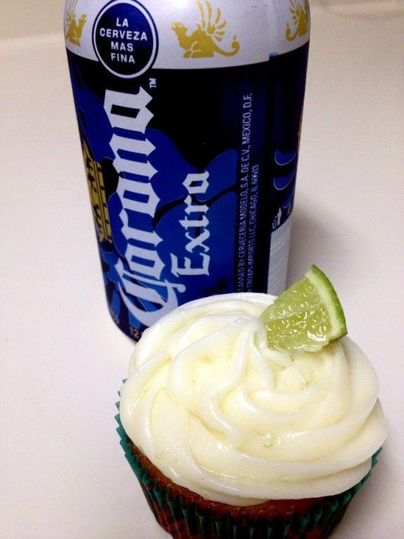 Corona and Blue Moon Cupcakes