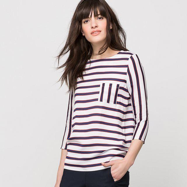 Blusa marinera con mangas ¾ - LAURA CLEMENT LAURA CLEMENT | La Redoute Mobile
