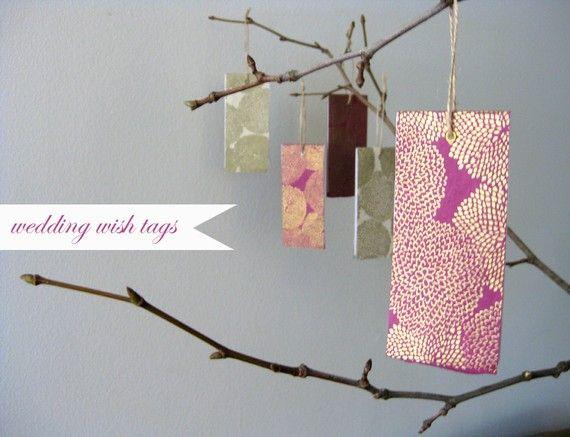 Wishing Tree Tags - guest book alternative: Wedding Wishing Trees, Guest Book Alternatives, Wedding Wish Trees, Trees Tags, Guest Books Alternative, Tags 25 00, Manila Tags, Books Ideas, Wedding Guest Books