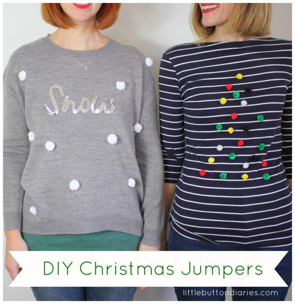 Pom-Pom Christmas Jumper: 2 Ways