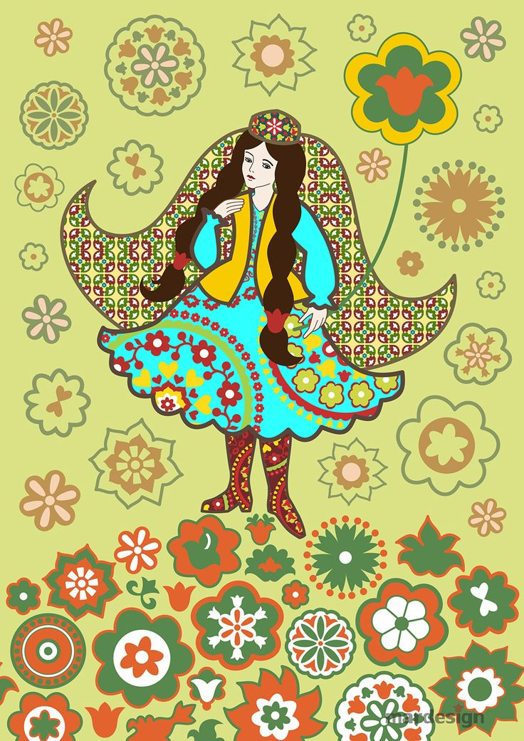 Tatar girl. This beautiful picture with the Tatar girl and patterns can be purchased http://aidar.e-autopay.com/order1/1004
