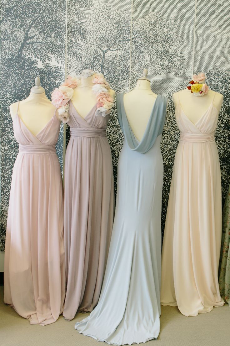 Best 25 bridesmaid dresses uk ideas on pinterest long chiffon maids to measure and ciat london pastel pretty bridesmaids dresses and matching nail varnish ombrellifo Images
