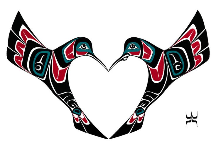 Hummingbird inspired by his wife's recent heart attack. She is doing fantastic now and Scott was inspired to create a piece in honor of her heart. He also presented it to the hospital where she recovered in Springfield, Oregon. Northwest Coast Indian Art - Scott Copeland