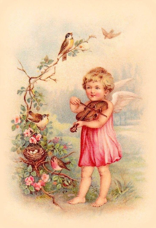 Картинки для декупажа ангелы ретро, обрамления для открыток