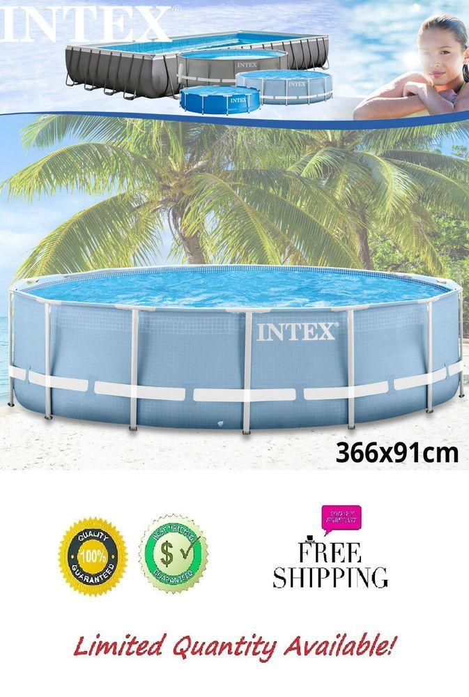 Ideal Metal Frame Schwimmbecken Swimming Pool Schwimmbad Stahlwand Intex x Neu
