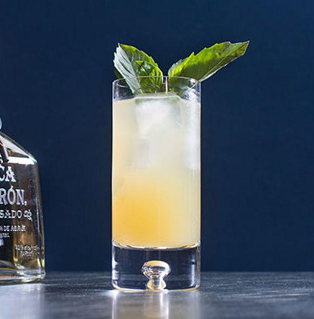 Enjoy Bickford Sling, a cocktail made with @Patrón Reposado.