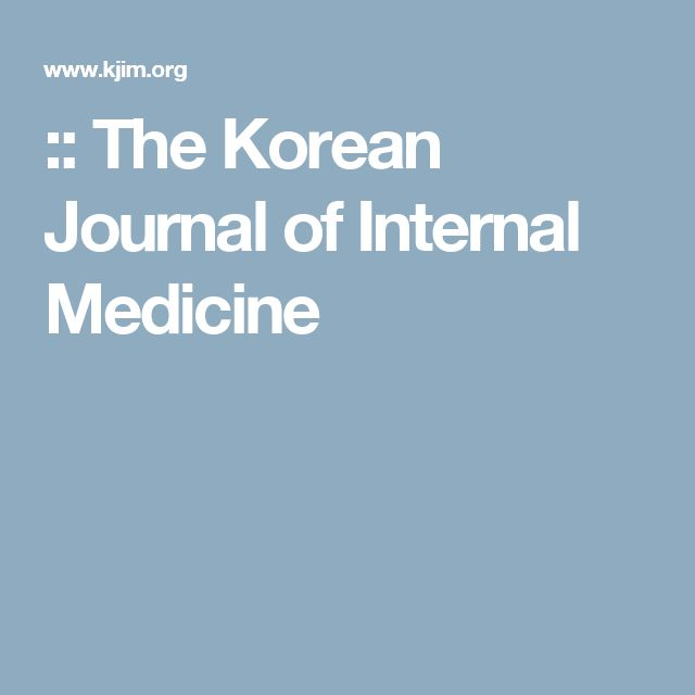 :: The Korean Journal of Internal Medicine