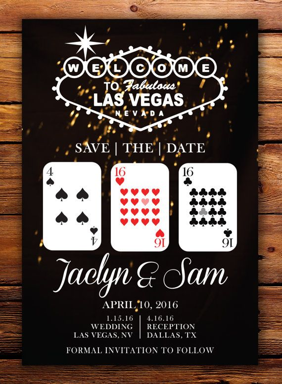 Vegas Save The Dates  Digital Download or by Shaileyann on Etsy